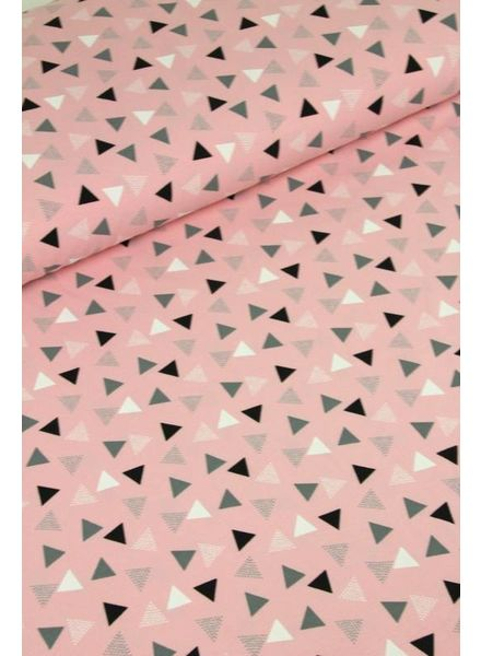 dotted triangles pink - jersey
