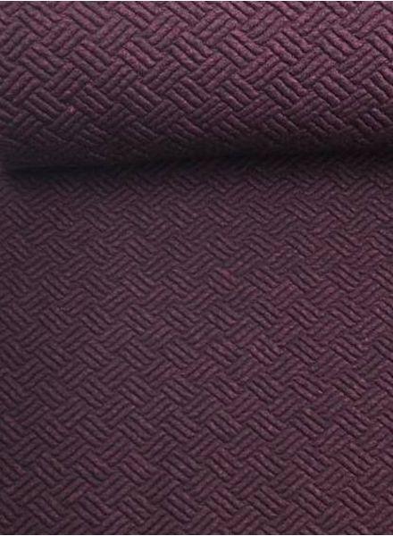 LMV bordeaux  textured knit - Ozzie Hoodie
