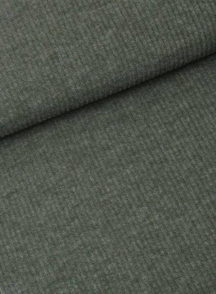 LMV olive green ribbed jersey - Mara top S