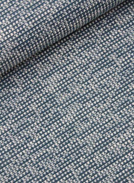 blauwe structuur tricot