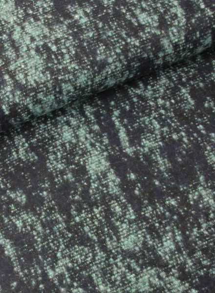 LMV green woollen coat fabric