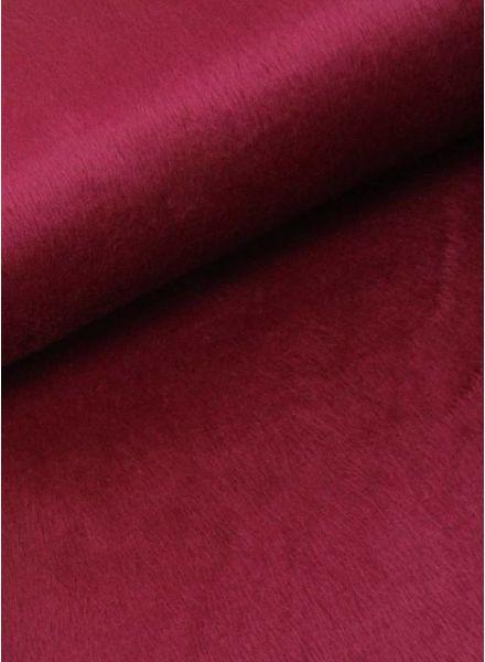 LMV stretch fur burgundy