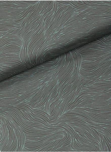 waves florian mint -  cotton
