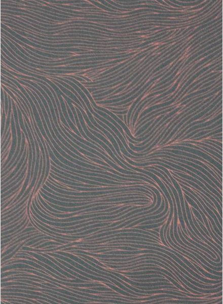 waves florian pink -  cotton