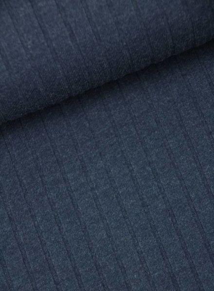 marineblauw geribbelde tricot