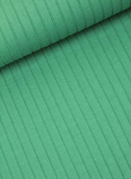 groene geribbelde tricot