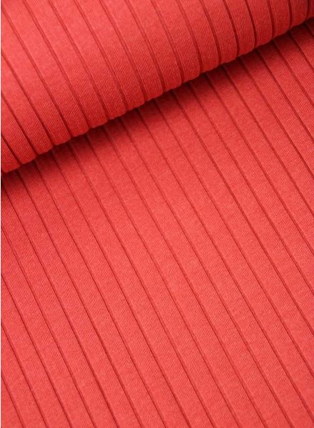 ribbed jersey - red