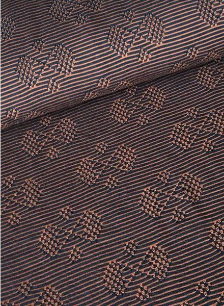 F&D – stripes copper jacquard