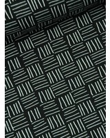 black and white stripes - tricot