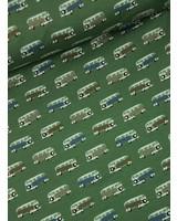 groene volkswagen busjes - tricot