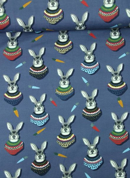 blue autumn bunny - tricot