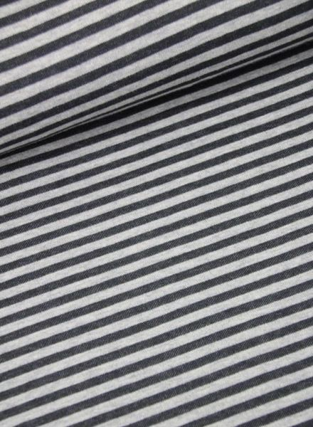 dark grey striped  double face - knitted interlock