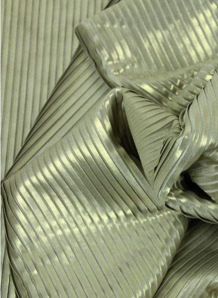 gouden plisse en voering