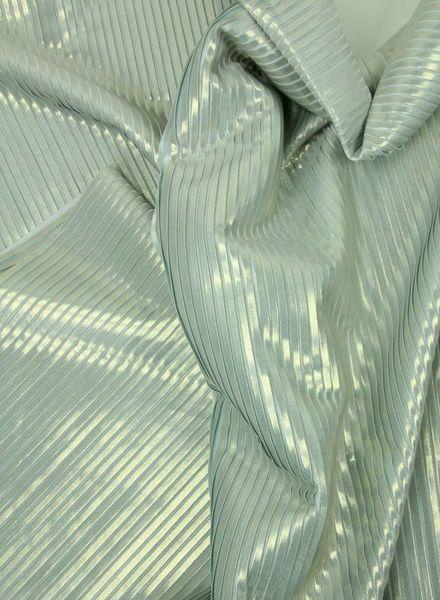 zilveren plissé en voering