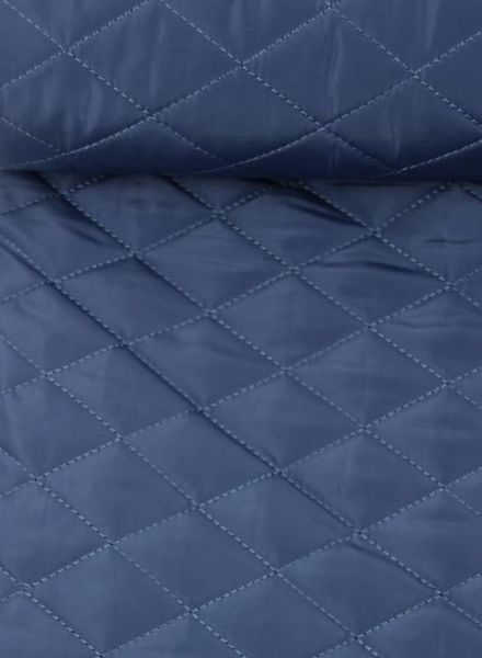 blue quilted coat fabric
