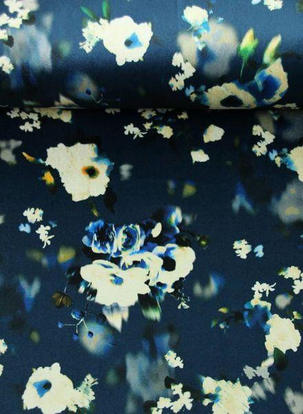 flowers blue - velvet
