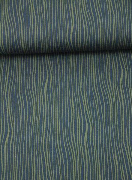 khaki navy blue lines tricot