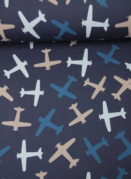 plane silhouettes blue - sweat