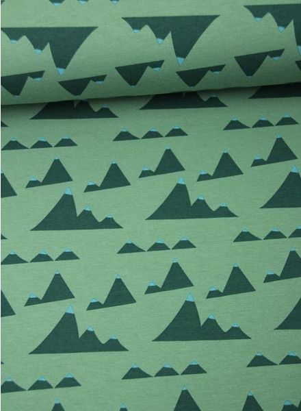 mountains green - sweater