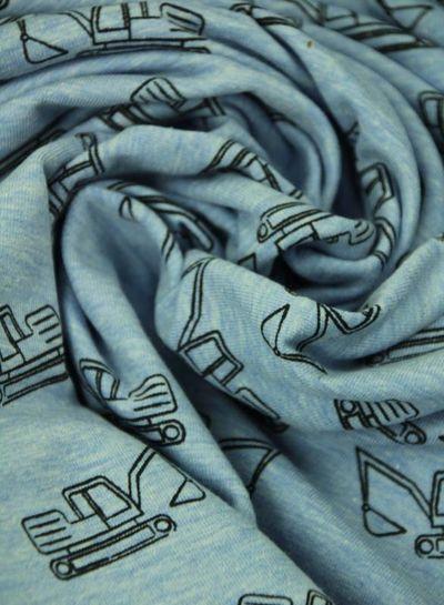 blue bulldozer –  tricot