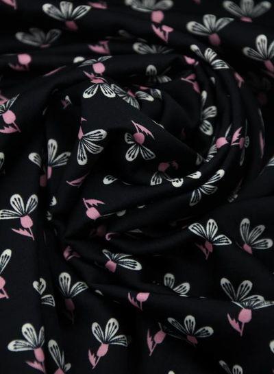 black flower – satijn