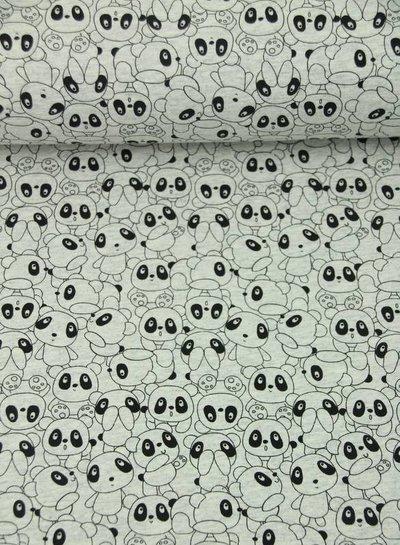 panda world grey -  french terry