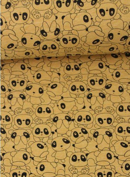 ochre panda world – french terry