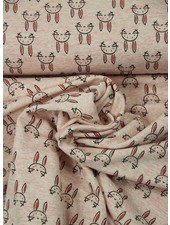 beautiful bunnies pink  - french terry