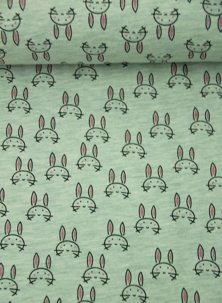 beautiful bunnies mint – french terry