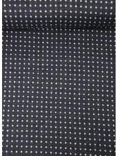 navy dots - mantelstof