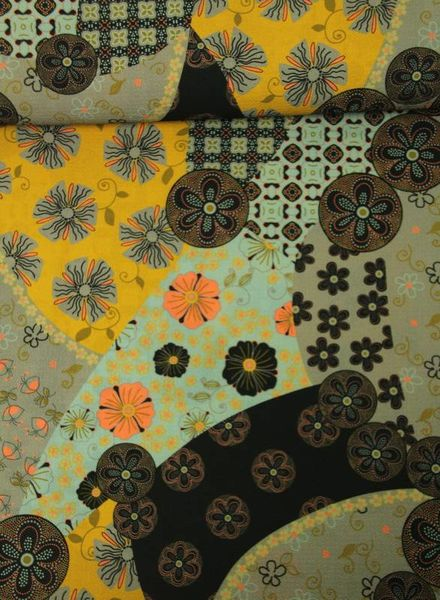 autumn print -  crepe
