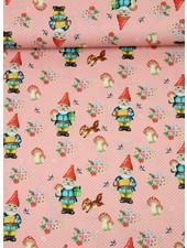 pink happy gnome - katoen
