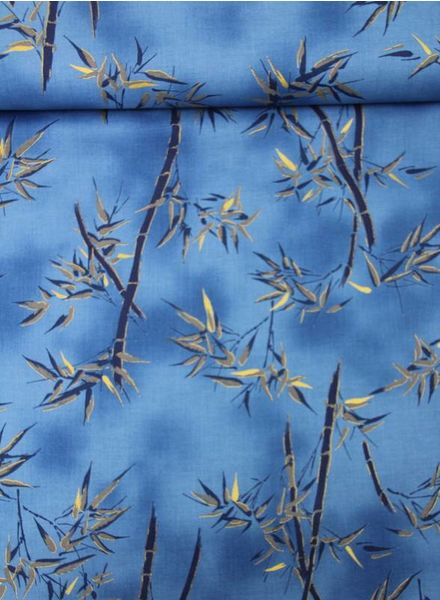 blue gold leaves – cotton