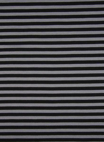 grey stripes -  organic interlock