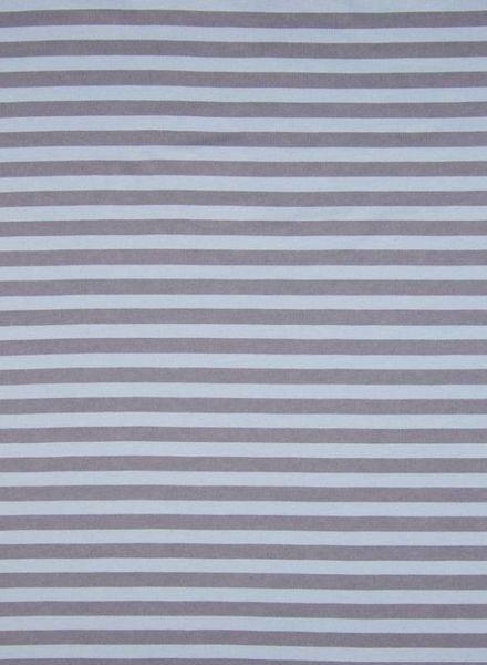 dusty blue stripes - organic interlock