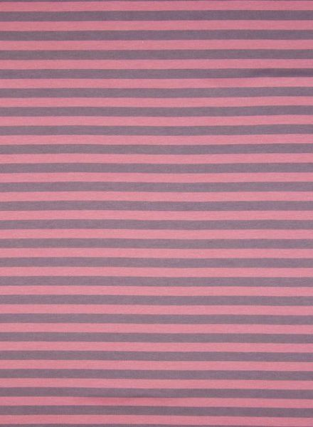 dusty pink stripes - organic interlock