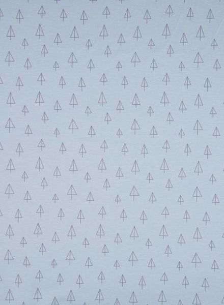 dusty blue tipi - organic interlock