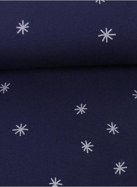 blue crosses sweater - chat chocolat