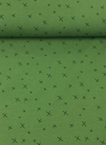green crosses jersey - chat chocolat