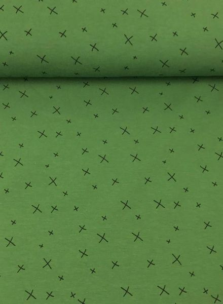 green crosses tricot - chat chocolat