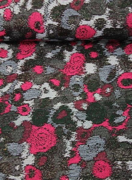 roses lurex - geweven jacquard