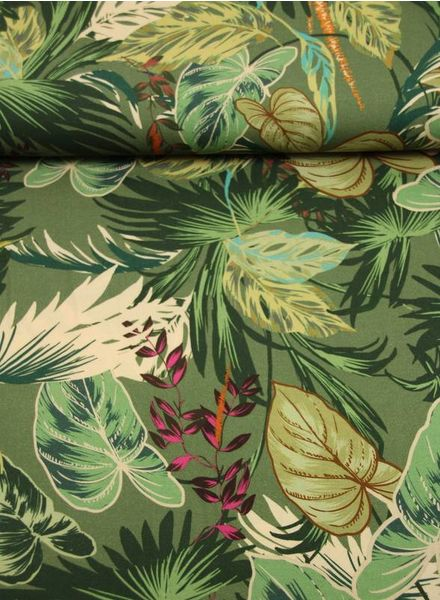 jungle leaves -  viscose