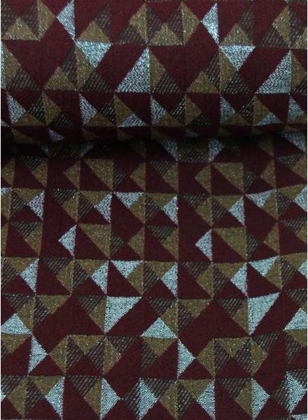geometric lurex - geweven jacquard