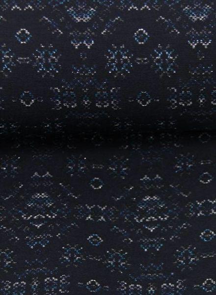 lovely blue - woven jacquard