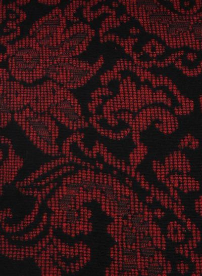 red and black - geweven jacquard