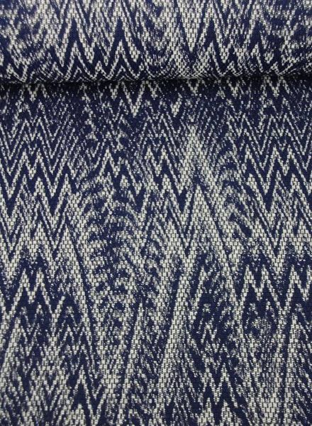 classy and blue - woven jacquard