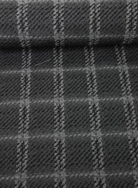 carcoal squares -  woven jacquard