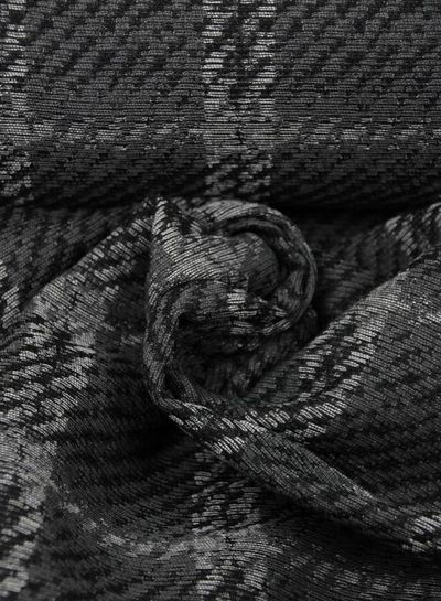 carcoal squares -  geweven jacquard