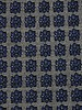 blue lurex flowers - geweven jacquard