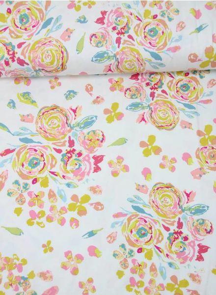 swifting flora fond - tricot